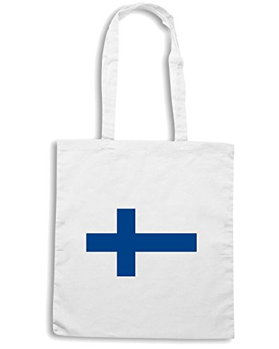 T-Shirtshock - Borsa Shopping TM0189 Flag of Finland flag Bianco