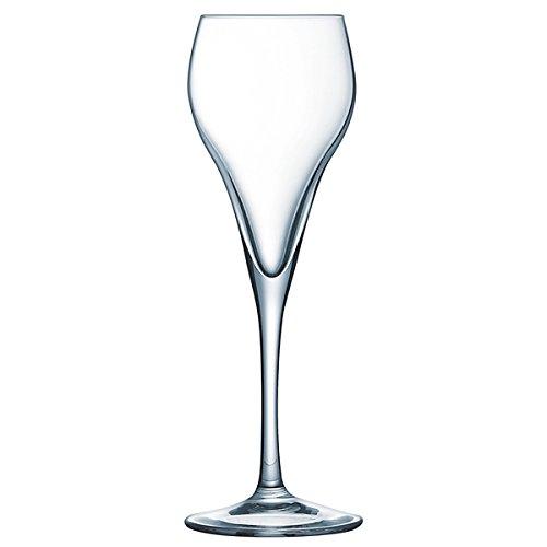 Brio champán copas 9,5cl juego de 6copas cristal templado champán Cava - 2