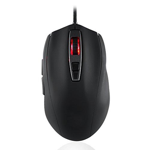 Gaming Mouse Wired 5000 DPI Atmungslicht Ergonomische Spiel USB Mäuse RGB 7 Tasten Für Windows 7/8/10 / XP PC Laptop Desktop Notebook,Black