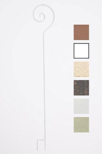 CLP Tuteur pour Plantes Grimpantes Silla, Support pour Plantes Grimpantes en Fer, Hauteur du Support 148 cm, Couleur au Choix : Blanc Antique
