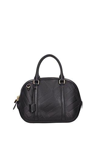 Handtasche Burberry Damen Leder Schwarz 3949802 Schwarz 12x24x36 cm