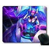Beliebte Custom entworfen Gaming Maus Pad mit DJ-Sona Tapete (1) rutschfeste Neopren Gummi Standard Größe 22,9cm (220mm) X 17,8cm (180mm) X 1/8(3mm) Mauspad