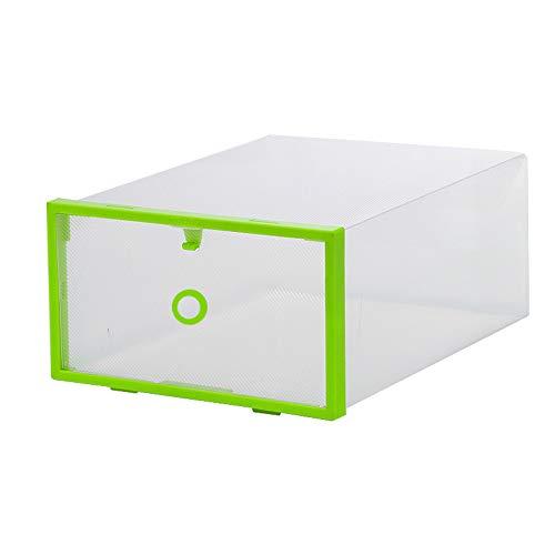 GYJ Schuhkarton Clear Faltbare Plastikspeicher Organisator Stackable und UmweltzRahmensanzack geeignet für die Lagerhalle des Wohnzimmers,Green