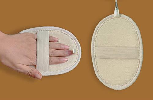 Luffa handschuh,100% Luffa Natur Schwamm,Luffa-Gurke, Peeling,Massage und Reinigung des Körpers, mindert Pickel,Akne,Mitesser,aus Pflanzenfasern,für reine Haut,für Männer und Frauen