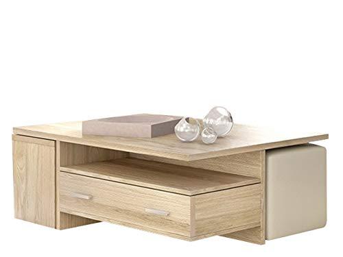 Mirjan24 Couchtisch Nomino mit 2 Schubladen, Sofatisch mit 2 Mini-Tischen, Praktischer Kaffeetisch, Stylischer Wohnzimmertisch, Beistelltisch Stilvoll (Sonoma)