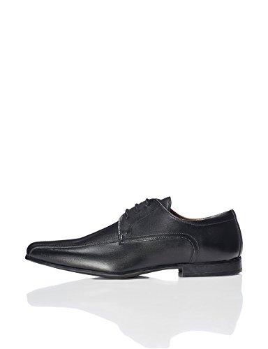 FIND Herren Derby-Schuhe mit Nähten, Schwarz (Black), 42 EU