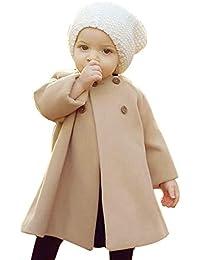Xmiral Abrigo para Bebes Niñas Cuello Redondo Elegante