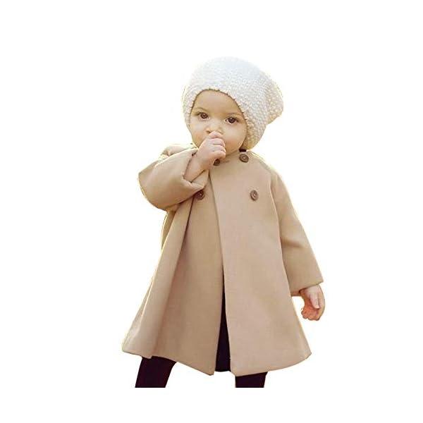 Abrigo Bebe Niña, K-Youth Ropa Bebe Infantil Niñas Otoño Invierno Chaqueta Niña Capa Chaqueta Gruesa Ropa de Abrigo… 1