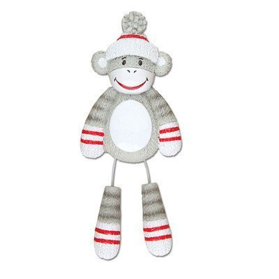 Sock Monkey Personalized Christmas Tree Ornament by PolarX Ornaments (Monkey Sock Christmas)