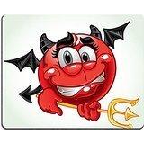 luxlady Gaming Mousepad Bild-ID: 23150854freundlichen Lächeln in Kostüm Teufel mit Pitchgabel eine Reihe von Erwachsene (Party Kostüm Pad)