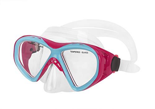 Kinder Schnorchelbrille Taucherbrille Schwimmbrille Tauchmaske für Mädchen, Jugendliche von 9-16 Jahren, Tempered Glas, Kid Mask