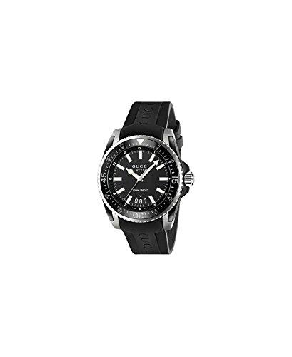 Gucci Dive XL Orologio da uomo Quarzo 45mm cinturino in gomma colore nero YA136204