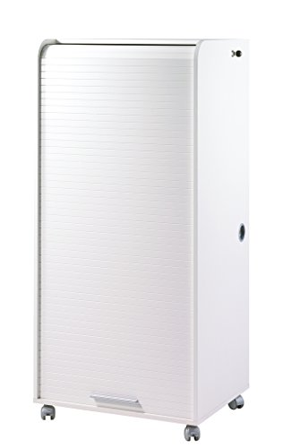 Simmob ORGA140ALB ORGA Armoire Informatique Mobile avec 2 Tiroirs Bois 53,2 x 65,2 x 139,9 cm