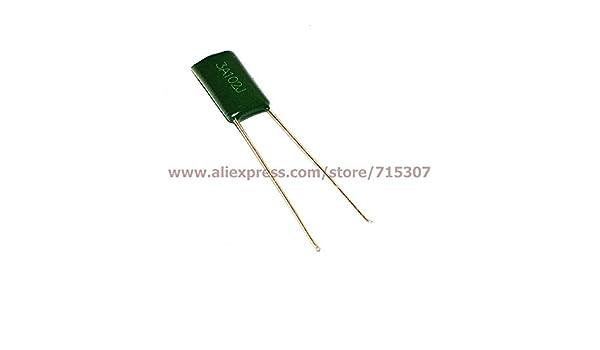 1000V 0.001uF 1nF 1000pF 3A102J ±5/% Mylar Film Capacitors Radial
