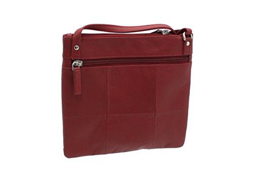 Borsa in Pelle Visconti Stile 18608 Rosso Rosso (rosso)