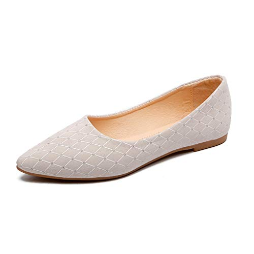 Alaso Ballerine Femme Mocassins Pas Cher Femme Cuir Chaussures Habillées Chaussures Plates Mariage/Soirée/Fête Strass Espadrilles