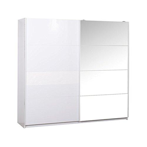 Armoire 2 portes coulissantes Laqué Blanc - SENYA - L 240 x l 62 x H 223 - NEUF