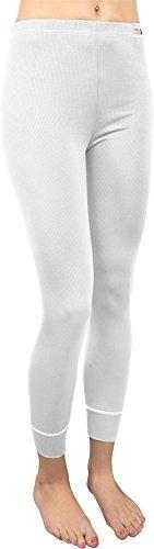 normani Super warme Lange Unterhose für Damen Farbe Coolmax/Weiß Größe M