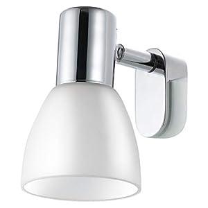 EGLO Spiegelleuchte, Stahl, E14, Weiß/Chrom, 7 x 9.5 x 11.5 cm