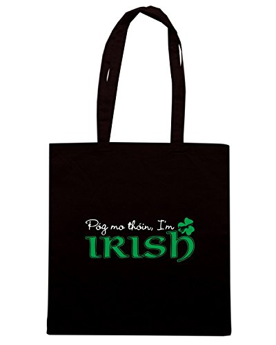T-Shirtshock - Borsa Shopping TIR0164 pog mo thoin im irish dark tshirt Nero