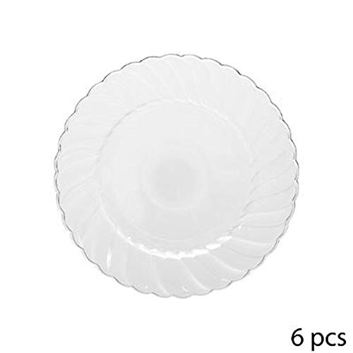 Lot de 6 Assiettes Rondes Plastique\