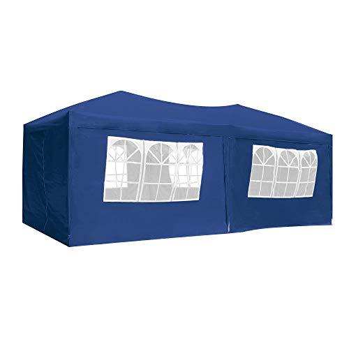 AUFUN Faltpavillon Faltzelt 3x6m UV-Schutz - gartenpavillon 6 Seitenteile Wasserdicht - für...