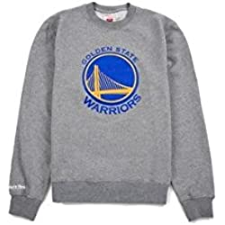 Mitchell & Ness – Sudadera de los Golden State guerreros actual de la NBA, color gris, small