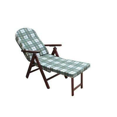 Sedia Sdraio In Legno Imbottita.Il16 Verde Soggiorno Casa E Cucina Poltrona Sedia Sdraio Amalfi