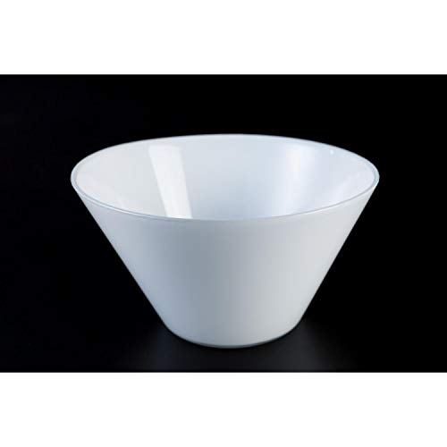 INNA Glas Coupelle apéritif en Verre Vicky, Blanc, 9 cm, Ø 16,5 cm - Coupelle Ronde/Coupe en Verre