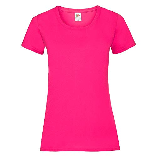 Fruit of the Loom - Lady-Fit Valueweight T - Modell 2013 M,Fuchsia
