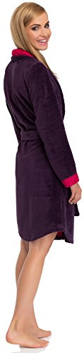 Merry Style Damen Bademantel 13004 Aubergine/Amaranth