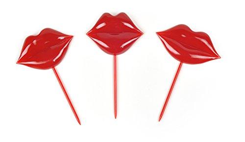 Fred und Freunde Boogie Party Bites Picks Lip Service Küsse Set of 18 rot