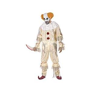 Atosa-53961 Atosa-53961-Disfraz Payaso Sangriento para Hombre Adulto-Talla, Color beige M-L (53961