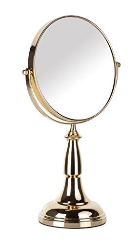 Danielle Creations Miroir sur pied grossissant x 8 Rose/doré 20 cm