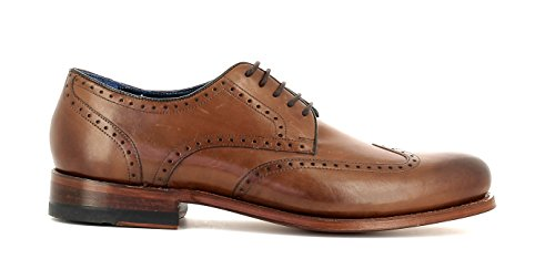 Gordon & Bros Herrenschuhe levet 5428 Klassischer Rahmengenähter Schnürhalbschuh mit Oxford Schnürung IM Brogue Stil für Anzug, Business und Freizeit torino midbrown leather