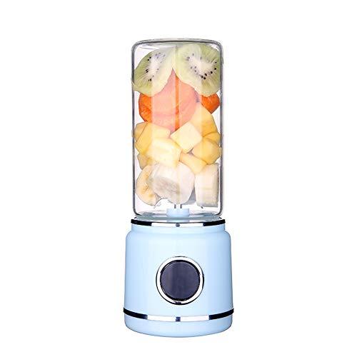 LQ&XL 500ML Mini Blender Multifuncional, Botella Pportátil de la Licuadora del Jugo, Juicer Cup Recargable USB 6 Cabezal de CorteBaby Travel Gimnasio de Oficina,C