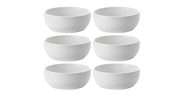 mit Fu/ß porzellan Maxwell /& Williams DV0039 White Basics Diamonds Kleine Schalen f/ür Reis und Snacks