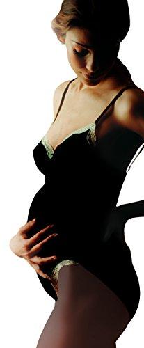 MARILYN, MAMA-20, blickdichte Umstandsstrumpfhose mit besonderen Zwickel um Bauchbereich, 20 Denier, Größe 40 (L), Farbe Beige (visone)