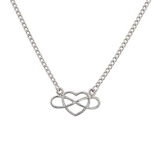 LUX Zubehör to Infinity & Beyond Ausschnitt Herz Anhänger Halskette. (Perlen Ausschnitt Halfter)