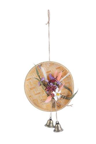 Handmade Fashion Dream erhalten Blumen Auto Aufhängen und Glocken Decor Craft Geschenk Pink (Glocke, Lift)