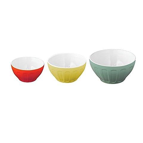 Good Cook OvenFresh Stoneware 3 Piece Mixing Bowl Set, Multicolor
