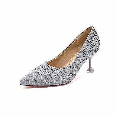 Comfort Almond Casual Black Tacchi Stiletto Heel Molla Silver Cadere Per Argento DonneS Pu SANMULYH Scarpe PZqBwwX