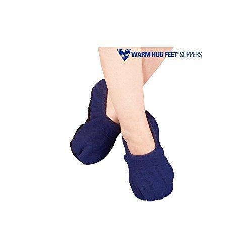 shop-story-Hausschuhe Pantoffel mikrowellengeeignet Herren Damen 36-45(elastischer Stoff) blau (Damen Mikrowellen Pantoffeln)