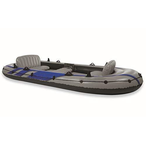 ZOUBIAG 5-Personen-Outdoor-Kajak Schlauchboot Set Beiboot Komfortabel Und Einfach (Color : Gray, Size : 5-Person Boat)