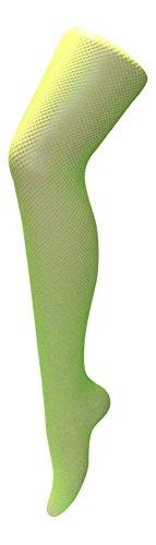 auen Neon Bunt Muster Farbig Fischnetz Strümpfe Strumpfhosen Netzstrumpfhose Neonstrumpfhosen (Hips 36-42