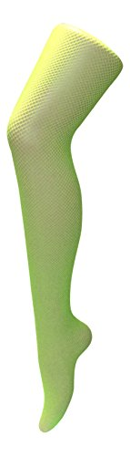 (Sock Snob - Damen Frauen Neon Bunt Muster Farbig Fischnetz Strümpfe Strumpfhosen Netzstrumpfhose Neonstrumpfhosen (Hips 36-42