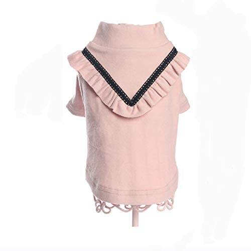 QLMS Pet Kleid neuen Rock Frühling und Sommer Welpen Kleidung Teddybär Xiong Bomeiji Puppe atmungsaktiv Prinzessin Kleid (Farbe : Rosa) (Dress Puppe Up Halloween Wie Eine Für)