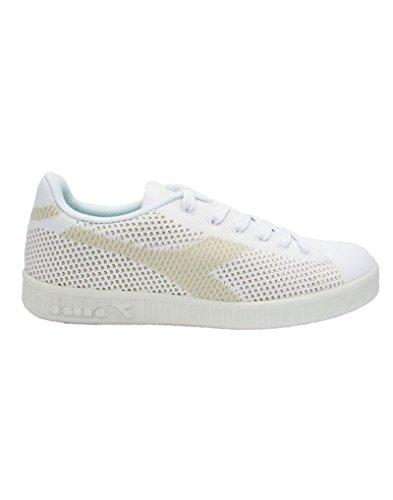 Diadora Game Weave, Sneaker a Collo Basso Uomo Bianco