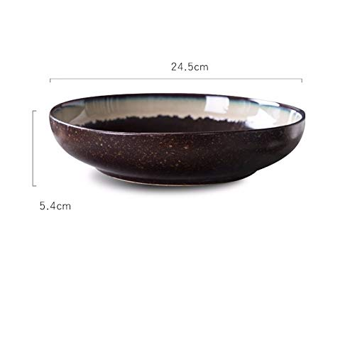 Bol à soupe en céramique, bol, poissons, bol, bol, bol à soupe, grande Assiette creuse, creuse,