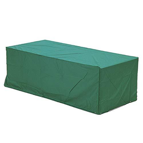 Großer Ovaler Tisch (Qz Gartentischabdeckung gartentisch Abdeckung Rechteckiger/ovaler Patio-Tisch und Stuhl-Set-Cover, strapazierfähiger und wasserdichter Outdoor-Möbelbezug, Large Green abdeckplane (größe : 50×50×20cm))